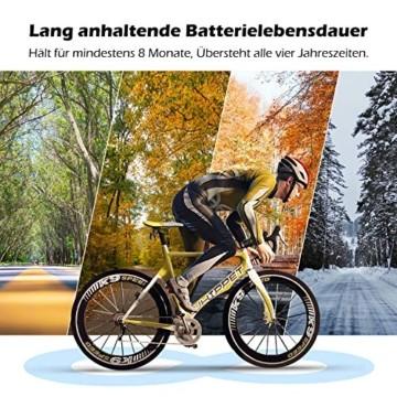 PRUNUS [Aktualisiert] Fahrrad Tachometer wasserdichte IP66 Fahrradcomputer Kabellos mit 20 Funktionen, Rad-Tacho mit Auto an/aus für Outdoor-und Indoor-Tracking - 6