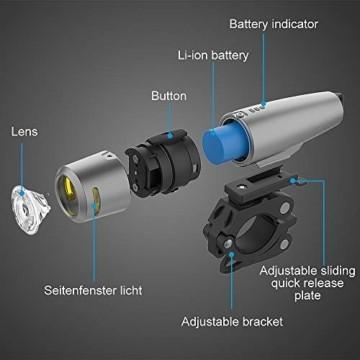 PUTARE 【2020 Neuestes Modell】 Fahrradlicht Set,StVZO USB Wiederaufladbare Fahrrad Licht,Mit 2 Leuchtmodi IPX5 Wasserdicht Fahrradbeleuchtung,Ultra-Bright Fahrradlampe mit Frontlicht und Rücklicht - 6