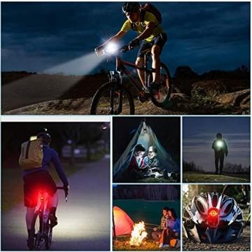 PUTARE 【2020 Neuestes Modell】 Fahrradlicht Set,StVZO USB Wiederaufladbare Fahrrad Licht,Mit 2 Leuchtmodi IPX5 Wasserdicht Fahrradbeleuchtung,Ultra-Bright Fahrradlampe mit Frontlicht und Rücklicht - 7