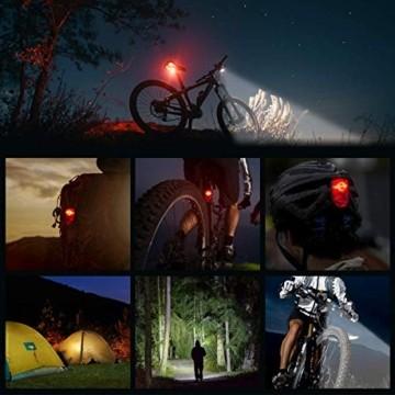PUTARE LED Fahrradlicht Set,【Aktualisiert】 StVZO Zugelassen USB Wiederaufladbare Fahrradbeleuchtung Fahrradlampe Vorne/Rücklicht, IPX5 Wasserdicht Fahrradlichter mit 2 Licht-Modi - 3