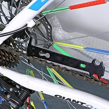 QKURT Fahrradkette Zange + Fahrrad Ketten Prüfer + 6 Paare Fahrrad Fehlt Link, Kettentrenner Fahrrad Fahrrad Fehlt Link für 6, 7, 8 Geschwindigkeits Kette| Professionell Fahrradkette Reparatur Set - 2