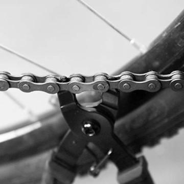 QKURT Fahrradkette Zange + Fahrrad Ketten Prüfer + 6 Paare Fahrrad Fehlt Link, Kettentrenner Fahrrad Fahrrad Fehlt Link für 6, 7, 8 Geschwindigkeits Kette| Professionell Fahrradkette Reparatur Set - 8