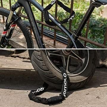Qomolo Fahrradschloss mit Schlüssel, Kettenschloss Fahrrad, 6mm-Stahl Kette, 360 Grad Drehbares Verriegelungskopf, mit Wasserdichtem Schlüsselloch Deckel, Motorradschloss Kettenschloss, 100cm - 7