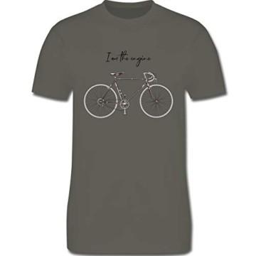 Radsport - I am The Engine - M - Dunkelgrau - ich Bin der Motor - L190 - Tshirt Herren und Männer T-Shirts - 3