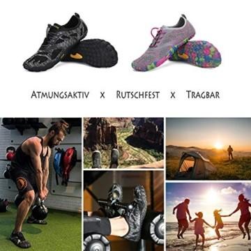 SAGUARO Barfuß Trail Laufschuhe Männer Frauen Fahrradschuhe barfussschuhe Weich Bequem Fitnessschuhe Trainingsschuhe für Joggen Laufen Wandern(034 Schwarz, 44 EU) - 7
