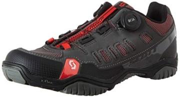 Scott Herren Sport Crus-R Boa Mountainbike Schuhe, Grau (Anthracite/Red 001), 44 EU - 1