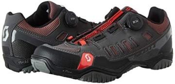Scott Herren Sport Crus-R Boa Mountainbike Schuhe, Grau (Anthracite/Red 001), 44 EU - 6
