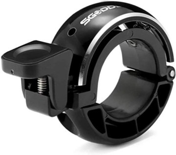 SGODDE Fahrradklingel,O Design Fahrradglocke Laut, Mini Aluminiumlegierung Innovative Fahrrad Ring Q Bell Radfahren Fahrrad Klingel Glocke MTB Mountainbike Alarm Horn Ring, für 22.2-24mm Lenker - 1