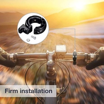 SGODDE Fahrradklingel,O Design Fahrradglocke Laut, Mini Aluminiumlegierung Innovative Fahrrad Ring Q Bell Radfahren Fahrrad Klingel Glocke MTB Mountainbike Alarm Horn Ring, für 22.2-24mm Lenker - 7
