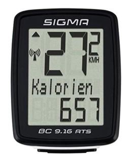 Sigma BC 9.16 ATS Fahrradcomputer, schwarz, One Size - 1