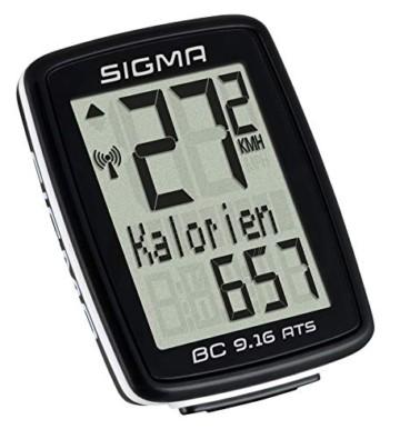 Sigma BC 9.16 ATS Fahrradcomputer, schwarz, One Size - 2