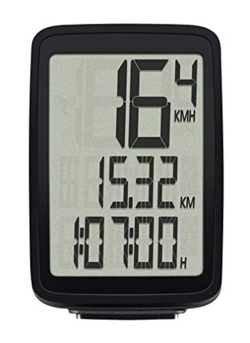 Sigma Sport Fahrrad Computer Pure 1, 4 Funktionen, Großes Display, Kabelgebundener Fahrradtacho, Schwarz - 2