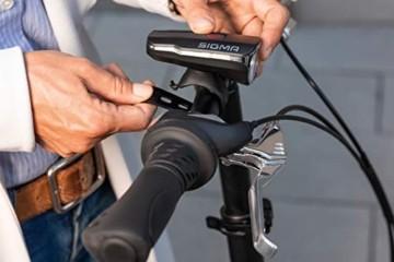 SIGMA SPORT Fahrradbeleuchtung AURA 60 USB, 60 LUX, Frontlicht, StVZO zugelassen, wasserdicht, USB wiederaufladbar, 3 Leuchtmodi - 2