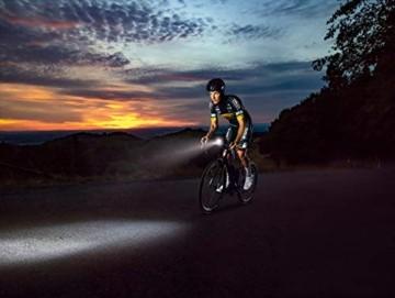 SIGMA SPORT Fahrradbeleuchtung AURA 60 USB, 60 LUX, Frontlicht, StVZO zugelassen, wasserdicht, USB wiederaufladbar, 3 Leuchtmodi - 4