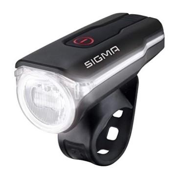 SIGMA SPORT Fahrradbeleuchtung AURA 60 USB, 60 LUX, Frontlicht, StVZO zugelassen, wasserdicht, USB wiederaufladbar, 3 Leuchtmodi - 1