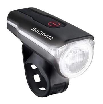 SIGMA SPORT Fahrradbeleuchtung AURA 60 USB, 60 LUX, Frontlicht, StVZO zugelassen, wasserdicht, USB wiederaufladbar, 3 Leuchtmodi - 6