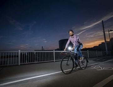 Sigma Sport LED Batterie Fahrradbeleuchtung AURA 25 / CUBIC Set 25 LUX / 400 m Sichtbarkeit batteriebetriebene Fahrradlampe + Rücklicht StVZO zugelassen Schwarz - 2
