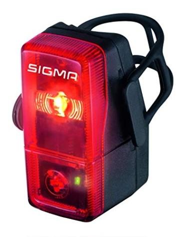 Sigma Sport LED Batterie Fahrradbeleuchtung AURA 25 / CUBIC Set 25 LUX / 400 m Sichtbarkeit batteriebetriebene Fahrradlampe + Rücklicht StVZO zugelassen Schwarz - 3