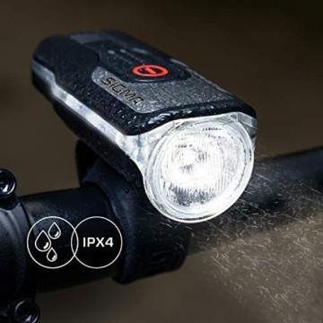 SIGMA SPORT - LED Fahrradlicht Set Aura 80 und BLAZE | StVZO zugelassenes, akkubetriebenes Vorderlicht und Rücklicht mit Bremsfunktion - 2