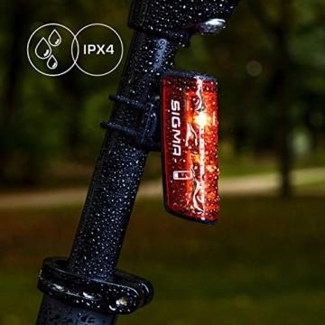 SIGMA SPORT - LED Fahrradlicht Set Aura 80 und BLAZE | StVZO zugelassenes, akkubetriebenes Vorderlicht und Rücklicht mit Bremsfunktion - 8
