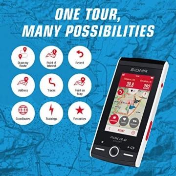 SIGMA SPORT ROX 12.0, GPS Fahrradcomputer mit Kartennavigation und Farbdisplay - 2