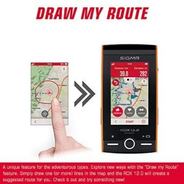 SIGMA SPORT ROX 12.0, GPS Fahrradcomputer mit Kartennavigation und Farbdisplay - 6