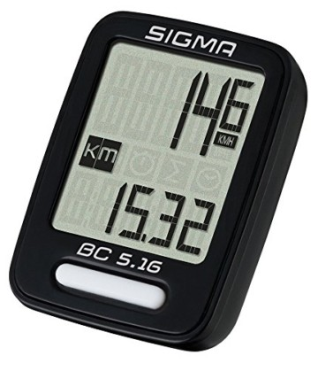 Sigma Sport Sigma BC 5.16 Fahrradcomputer, Schwarz, One size - 1