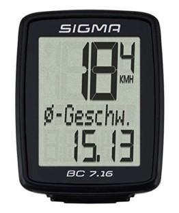Sigma Sport Sigma BC 7.16 Fahrradcomputer, Schwarz, One size - 1