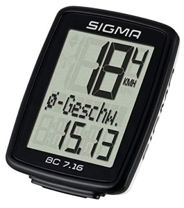 Sigma Sport Sigma BC 7.16 Fahrradcomputer, Schwarz, One size - 4