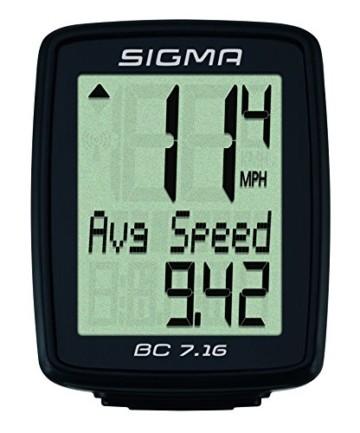 Sigma Sport Sigma BC 7.16 Fahrradcomputer, Schwarz, One size - 6