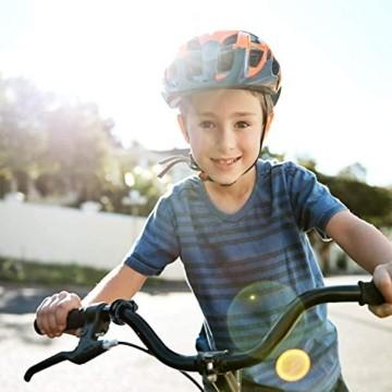 Suerte Mini Innovative O-Bike-Klingel, unsichtbare Fahrradklingel, Fahrrad-Mountainbike-Alarmhornhornring, Klingel laut, Sicherheitsalarm, für 22,2-23 mm Lenker - 6