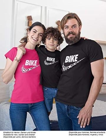 T-Shirt: Bike - Fahrrad Geschenke für Damen & Herren - Radfahrer - Mountain-Bike - MTB - BMX - Fixie - Rennrad - Tour - Outdoor - Sport - Urban - Motiv - Spruch - Fun - Lustig, Schwarz, L - 3