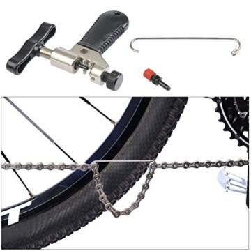 TIMESETL Fahrradkettenzange Kettennieter Fahrrad Ketten Werkzeug, Fahrrad Link Zange und Ketten Prüfer und 3 Paar Fahrrad fehlt Link für 6/7/8 9 10 Gang - 3