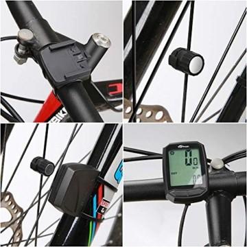 toptrek Fahrradcomputer Kabellos 13 Funktionen Fahrradtacho IPX7 wasserdichte Radcomputer LCD-Hintergrundbeleuchtung Kilometerzähler für Radsport Realtime Speed Track - 7