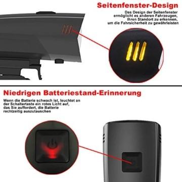 toptrek Fahrradlicht Set StVZO Zugelassen OSRAM LED Fahrradbeleuchtung USB Aufladbare Akku Fahrradlampe Vorne & Hinten IPX5 Wasserdicht Fahrrad Lichter mit Rücklicht (LF16 Li-Ion) - 3