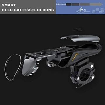 Toptrek Fahrradlicht StVZO Zugelassen, LED Fahrradbeleuchtung Set akku USB Wiederaufladbare OSRAM LED-Licht, umschaltbar zwischen 50/30 Lux, Frontlicht & Rücklicht IPX4 Wasserdicht Fahrradlampe (LF12) - 3