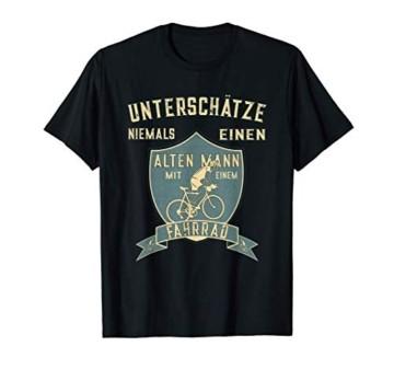 Unterschätze Niemals Einen Alten Mann Mit Einem Fahrrad T-Shirt - 1