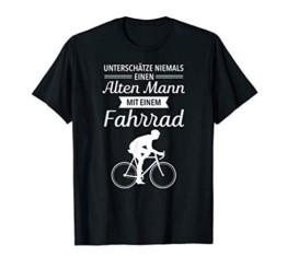 Unterschätze Niemals Einen Alten Mann Mit Fahrrad T-Shirt - 1