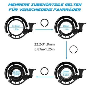 WOTEK Fahrradklingel, Innovative Mini Fahrradglocke Klingel Fahrrad 100dB Klingel laut, Aluminiumlegierung Fhradklingeln O Design Schwarz Fahrradhupe für Bike MTB Mountainbike, 22.2-31.8 mm Lenker - 4