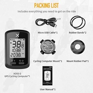 Xoss G GPS-Fahrradcomputer, kabellos, Tacho, Kilometerzähler, Rad-Tracker, wasserdicht, für Rennrad, MTB, Fahrrad, Bluetooth, g - 5