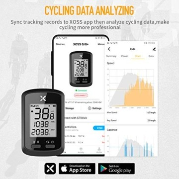 Xoss G GPS-Fahrradcomputer, kabellos, Tacho, Kilometerzähler, Rad-Tracker, wasserdicht, für Rennrad, MTB, Fahrrad, Bluetooth, g - 7