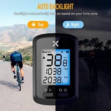 Xoss G GPS-Fahrradcomputer, kabellos, Tacho, Kilometerzähler, Rad-Tracker, wasserdicht, für Rennrad, MTB, Fahrrad, Bluetooth, g - 8
