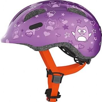 ABUS Smiley 2.0 Kinderhelm - Robuster Fahrradhelm für Mädchen und Jungs - 72569 - Lila mit Eulenmuster, Größe M - 3
