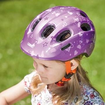 ABUS Smiley 2.0 Kinderhelm - Robuster Fahrradhelm für Mädchen und Jungs - 72569 - Lila mit Eulenmuster, Größe M - 4