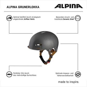 ALPINA GRUNERLOKKA Fahrradhelm, Unisex– Erwachsene, sepia, 57-61 - 7