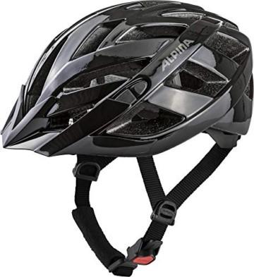 ALPINA PANOMA CLASSIC Fahrradhelm, Unisex– Erwachsene, black, 56-59 - 2