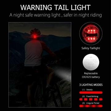 Fahrradhelm für Erwachsene, verstellbare leichte Fahrradhelme für Männer und Frauen, Rennrad- und Mountainbike-Helm mit abnehmbarem Visier und LED-Rücklicht (Schwarz) - 2