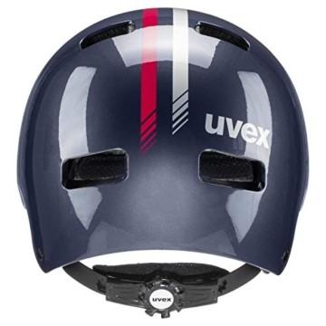 uvex Unisex Jugend Kid 3 Fahrradhelm, Race Midnight, 55-58 cm - 3