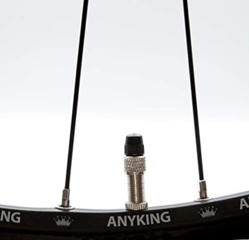 17-Teile Fahrradventil-Ersatz komplett-Set: 4x Fahrrad-Ventile Dunlop Blitzventil Einsatz, AV-Adapter Auto-Ventil Luft-Pumpe Aufsatz, Ventilkappen Nuss Mutter, Standard Normal-Ventil NV DV BV Ventile - 6