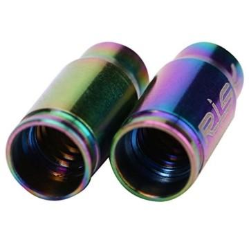 2 Pcs Presta Ventilkappen Fahrrad Titanlegierung Reifenstammluftventilkappen Staubabdeckung (Farbe : Mehrfarbig) - 2